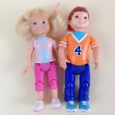 Fisher Price Loving Family Brother Boy Jersey #4 Sister Girl Blonde Pink Pigtail