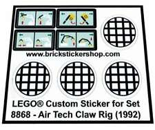 Replica Pre-Cut Sticker for Technic set 8868 - Air Tech Claw Rig (1992)