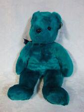 "Teddy Teal Beanie Baby 2000 15"" Plush Soft Toy Stuffed Animal"