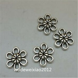 30pc Tibetan Silver Charms Flowers Pendant Bead Accessories Jewellery JP869