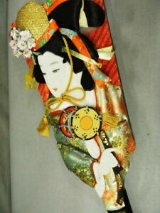 Antique Japanese Geisha doll in Kimono Battledore Figure Vintage