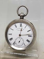 Antique solid silver gents H.E. PECK London pocket watch c1900 ref1081