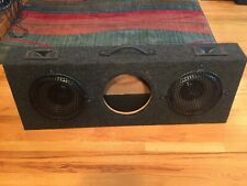 """New listing Dual Sealed Speaker Box with Pyramid Phase Iii 10"""" woofers and Piezo tweeters"""