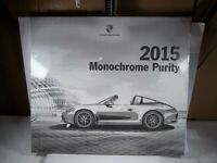 """FACTORY SEALED PORSCHE 2015 LARGE 25X22"""" CALENDAR GREAT PICTURES"""
