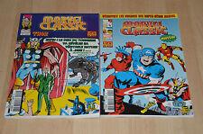 lot 2 comics Marvel Classic : Thor et Captain America - hors série n°1 et 2