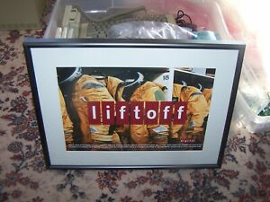"digital (dec)  ""liftoff"" framed advertising poster 20.5"" x 15.5"" x 1.25"""
