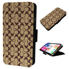 Coach New York Design - Flip Phone Case Wallet Cover - Fits Iphones & Samsung