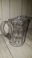 "6"" thick glass water pitcher lemonade pressed glass G"