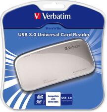 Verbatim Card Reader Universal Micro Card SD/SDHC/SDXC/MS/CF silber USB 3.0