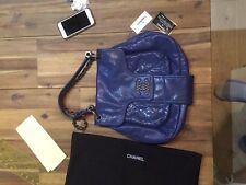 Authentic Chanel bag blue caviar