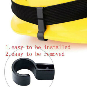 Reliable Plastic 10pcs/set Helmet Clips Fixed Headlamp Hard Hat Safety Cap Hook