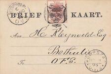Orange Free State - Nov 13, 1893 Domestic Card