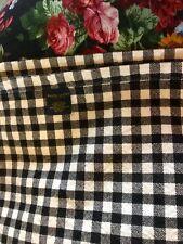 Htf Ralph Lauren Bernay Black White Check Throw Blanket Twin~Euc 1St Cossette