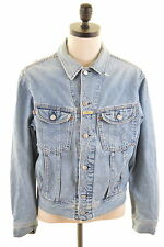 REPLAY Mens Denim Jacket Size 42 Large Blue Cotton
