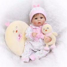 "17"" Realistic Reborn Baby Doll Girl Newborn Lifelike Soft Vinyl Handmade"
