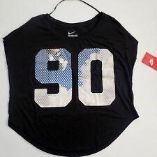 Nike Women Black Signal Air Max 90 Shirt - 677299 - Black 010 - Size S - NWT