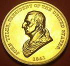 Gem Unc John Tyler Presidential Bronze Inauguration Medallion~Free Shipping