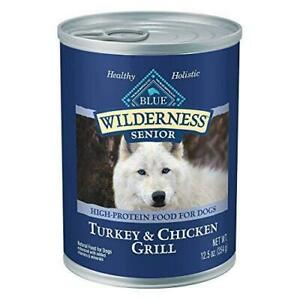 Blue Buffalo Wilderness High Protein, Natural Senior Wet Dog Food, Turkey & Chic