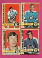 1972-73 OPC PITTSBURGH PENGUINS  GOOD/VG  CARD LOT (INV# C9686)