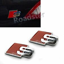 RED S SPORT REAR TRUNK LETTER EMBLEM BADGE STICKER DECAL for AUDI RS SPECIAL CAR