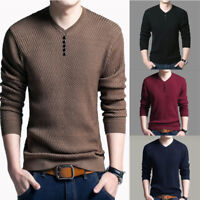 Men Casual Slim Fit Knitted Cardigan Pullover Jumper Sweater Tops Cashmere Wool