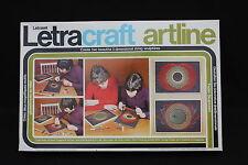 Ancien jeu Letraset Letracraft Artline motif geometrique fil couleur motif clou