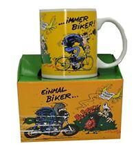 "MOTOmania Kaffetasse ""Einmal biker..."""