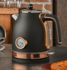 Brooklyn Black & Rose Gold Kettle And Toaster Set