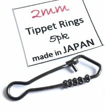 5) Tippet Rings size 2mm (orvis umpqua rio leader fly fishing) On Clip