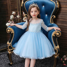4 Colors Lace Half Sleeve Princess Dress Bridesmaid Christmas Wedding Party Gown