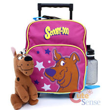 Scooby Doo Small School Roller Backpack Toddler Trolley Wheeled bag with Plush