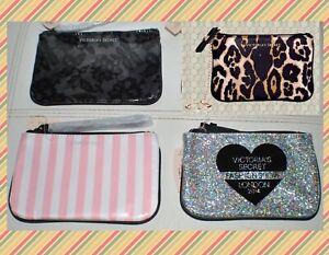 Victoria secret Coin Purse Costmetic Bag Makeup Case Leopard Animal Print NWT