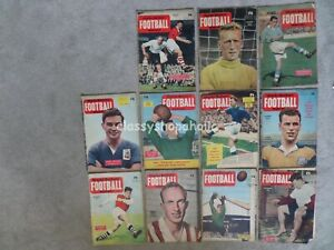 Vintage Charles Buchan's Football Monthly Magazine - 1956   11 x Editions