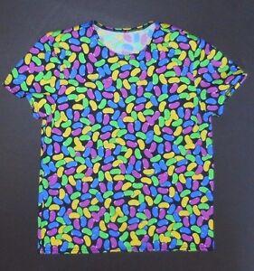 NWOT Jelly Bean Dance Print spandex short sleeve lycra pullover Unisex Sm Child