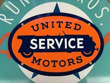 top quality UNITED SERVICE motors PORCELAIN coated 18 GAUGE steel SIGN