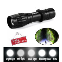 10000LM Zoomable XM-L T6 LED Flashlight Torch Tactical Portable Troch Light Lamp