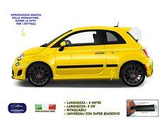 Modanature Fiat 500 esterne laterali in gomma per adesivi salva paraurti lateral