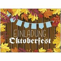 15 Einladungskarten Einladung Oktoberfest Umschläge Motiv Herbst Vintage Holz