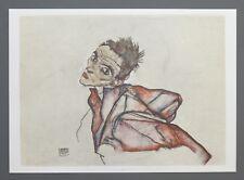 Egon Schiele Lichtdruck Collotype 50x36 Selbstbildnis Self Portrait 1915 Signed
