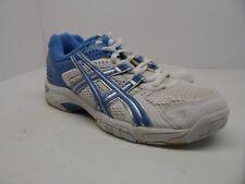 Asics Women's GEL-Rocket Volleyball Shoe White/Silver/Blue Size 7M