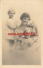 AK, Foto, Familienportrait - Frau mit Ihren 3 Kindern, 1915; 5026-80