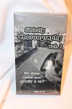 Strictly Choreography - Volume 1 (VHS, 2001) Dance Team Hip HOP MTV BET NEW