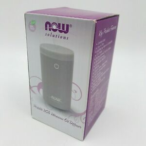 NOW Foods Solutions Oil Diffuser Portable USB Ultrasonic 6 Hour Run Tim No BPA
