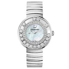 NEW SWAROVSKI (1160307) LOVELY FLOATING WHITE CRYSTALS STEEL STRAP PEARL WATCH