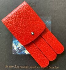 NEW IN BOX RARE VINTAGE MONTBLANC BACCARAT THREE-PEN GLOVE CASE IN RED LEATHER