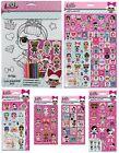 LOL Surprise! Sticker Packs Novelty Birthday Gift Xmas Colouring Activity (1C)