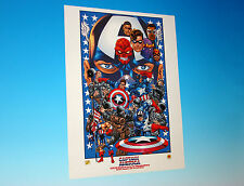 Captain America 225th Anniversary Lithograph Independence Marvel Comics
