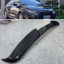 Carbon Fiber For Toyota Corolla Altis 12th 4DR V Style Rear Window Roof Spoiler