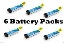 E-flite 1S 45C 150mAh 3.7V LiPo 6 Pc Battery BLADE NCPX NANO QX # EFLB1501S45