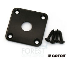 Gotoh JCB4 Metal Jack plate square curved Gibson LP ® style black with screws